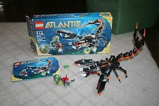Lego Set 8076 Atlantis Deep Sea Striker Complete w/ Instructions