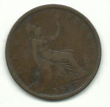 Very Nice Vintage 1862 Great Britain English Large Penny Cent-Nov031
