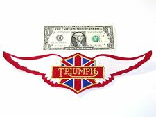 Triumph Wings Back Patch vintage embroidered jacket British Union Jack UK
