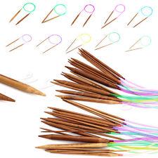 """18Pcs 32"""" 80cm Tubes Bambou Circulaire Tricot Aiguilles Crochet Multicolore"""