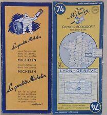 carte MICHELIN 74 LYON - GENEVE 1950
