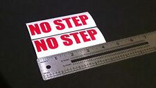 "No Step Decal Red Marine Boat Safety 4"" Stickers (Pair)"