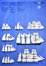 """Olympische Spiele 1972 München Motiv """"Segelschulschiffe blau"""" DIN A0 Otl Aicher"""