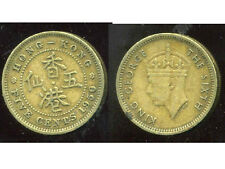 HONG KONG 5 cents five 1950