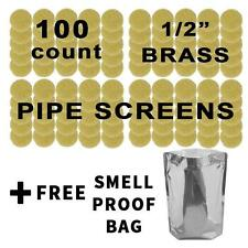 """100 COUNT 1/2"""" 12.66MM .500"""" USA MADE BRASS PIPE BOWL VAPE SCREENS FREE SHIPPING"""