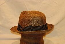 Sand Brown Tommy Bahama Straw Hat with Brown Band -- Size X Large Stretch Fit /