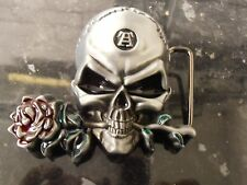Brand New Belt Buckle Skull & Rose
