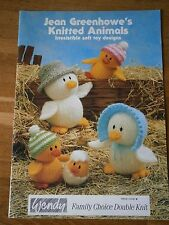 VINTAGE KNITTING PATTERN PATONS JEAN GREENHOWE KNITTED ANIMALS - SOFT TOYS