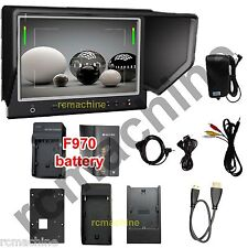 """Lilliput 7"""" 664 HDMI In SLIM Monitor shutter Canon 5D2 III+F970 battery+Charger"""
