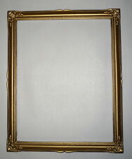 """Antique Newcomb & Macklin Style Gold 16"""" x 13"""" Gesso Ornate Picture Frame"""