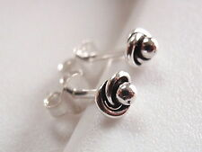Enfolded Dot Ball Stud Earrings 925 Sterling Silver Corona Sun Jewelry