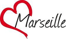 """Voiture autocollant """"Marseille"""" sticker ville France environ 9x15cm konturgeschn."""