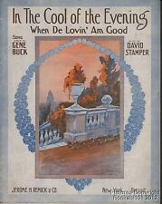 1912 Gene Buck & David Stamper Sheet Music (In the Cool of the Evening)