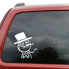 "Feel Like A Sir Meme Car Window Decor Vinyl Decal Sticker- 6"" Tall White"
