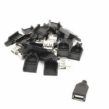 10PCS USB2.0 Type-A Plug 4-pin female Adapter Connector jack