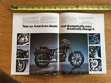 1979 HARLEY DAVIDSION MEMORABILIA All-New Sportster AD