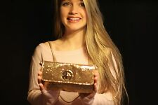 NWOT Kate Spade Glitter Sparkler Gold Purse Clutch Crossbody Handbag Cocktail