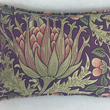 "Morris & Co Artichoke  Aubergine/Olive DKELAR301 18"" x 12"" Cushion Cover Superb"
