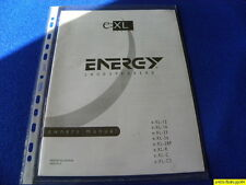 Energy Loudspeakers XL Series Owner's Manual Operating Instructions  New