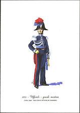 STAMPA UNIFORMI STORICHE - CARABINIERE UFFICIALE - GRANDE MONTURA - 1834 DEGAI