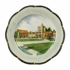 Spencer Edge Hand Painted Vintage Mansfield College Oxford Souvenir Plate c1900