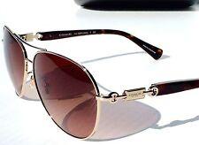 NEW* COACH Aviator L952 in Gold TORTOISE w Bronze Lens Sunglasses $229 H7060