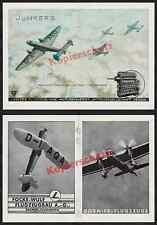"""O. de couleur publicité Junkers Ju 86 b-01 """"Bückeburg"""" D-axeq Jumo Dessau aviation 1936"""