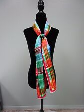 Echo Scarf Vintage Plaid and Checks Red/Blue/Green/Yellow and White Cute!