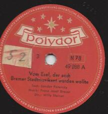 Märchen von Sandor Ferenczy : Vom Esel, der auch Bremer Stadtmusikant werden wol