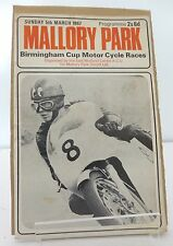 Mallory Park Birmingham Cup National Motor Cycle Race Programme 5th March 1967