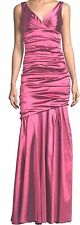 ***CHIC $1,295 THEIA SLEEVELESS RUCHED MERMAID GOWN DRESS IN MAGENTA SIZE 4***
