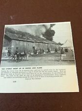 m8-2 ephemera 1938 ww1 picture peronne 1918 british stores burn