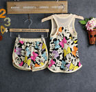Kids Baby Girl Minnie Mickey Mouse Summer T-shirt Tops Vest+Shorts Pants Outfit