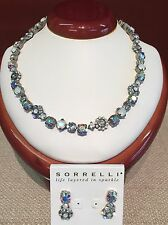 SORRELLI  White Bridal Necklace &  EARRINGS & FREE SHIPPING
