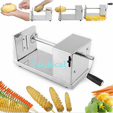 Manual Cutter Twisted Spiral Slicer Potato French Fry Vegetable Stainless Steel