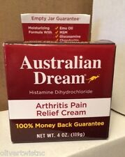 NEW Australian Dream Arthritis Pain Relief Cream 4 oz (118 g) EXP 11/2017
