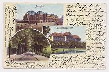 AK Gruss aus Kiel Bahnhof Oberlandesgericht Düsternbrook Mehrfachansicht 1901
