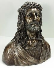 *** LIFE SIZE ** JESUS BUST Religious Church Gift Sculpture Statue BRONZE FINISH