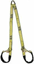 4 FT. G70 SOFT V STRAP, AXLE STRAP V BRIDLE for Tow Truck, Car Carrier, Rollback