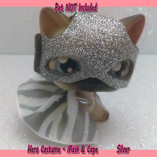 Littlest Pet Shop Clothes Accessories LPS Outfit Silver HERO Outfit (NO PET) #64