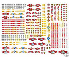 N Scale Ringling Bros. Barnum & Bailey Circus Wagon Decals- HUGE 8.5 X 11 SHEET!