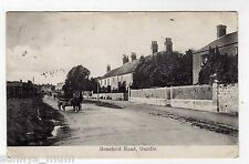 NORTHAMPTONSHIRE, OUNDLE, BENEFIELD ROAD, HORSE & CART, 1911