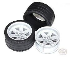 LEGO Technic - Tire x 2 w/ Rims - New - (Race, 68.8 x 36 ZR, Wheel)