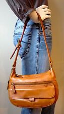FOSSIL British Tan Leather Shoulder bag w/ID Window