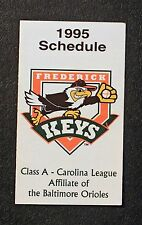 1995 Official Frederick Underwriters Frederick Keys Pocket Schedule mt