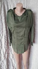 Isabel Marant Etoile army green roll up sleeves tunic wrap style shirt size 3