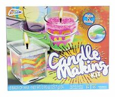 Grafix Candle Making Kit - Create Your Own Unique Candles with 5 Bags of Colored