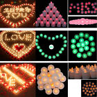 Flameless LED Tealight Red Light Plastic Candle for Wedding Party Club Decor