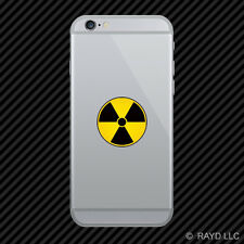 Nuke Radioactive Cell Phone Sticker Mobile Die Cut nuclear radiation warning