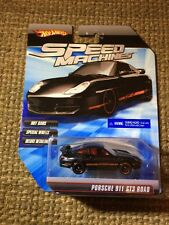 Hot Wheels Speed Machines Porsche 911 GT3 Road ~ VHTF ~ Good Card!